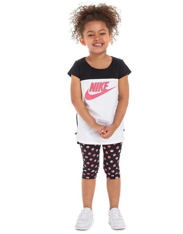 Nike Girls' T-Shirt + Capri Set Musta