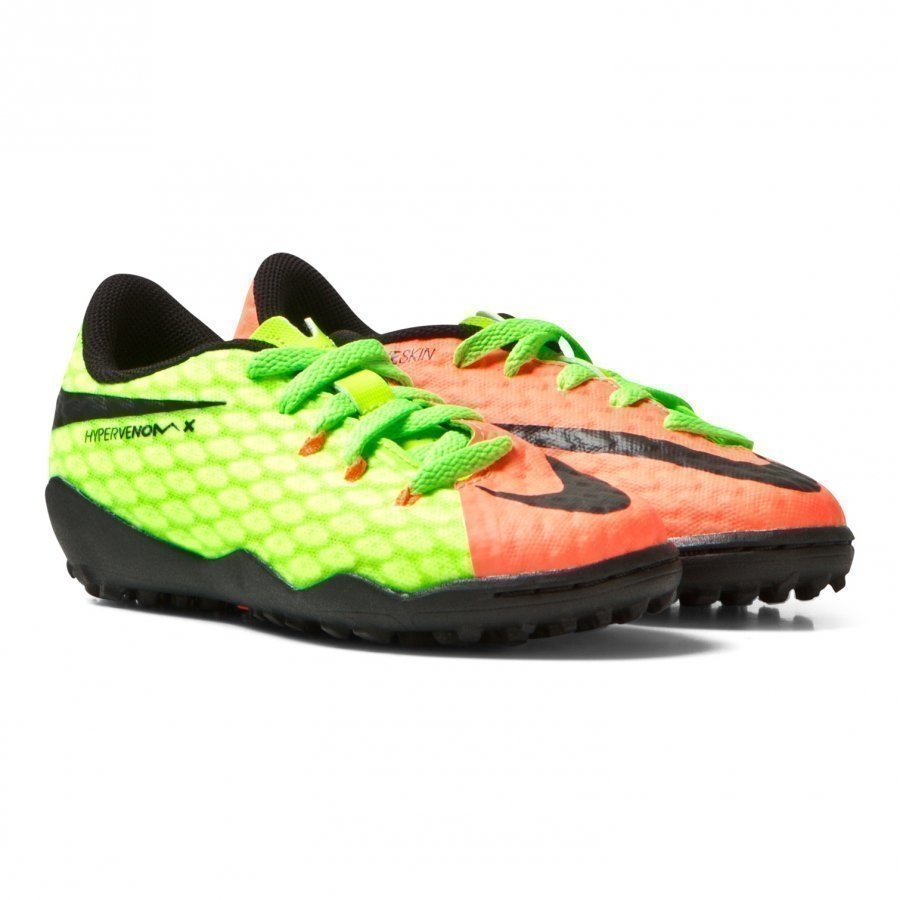 Nike Green Hypervenom Phelon Iii Turf Football Boots Jalkapallokengät
