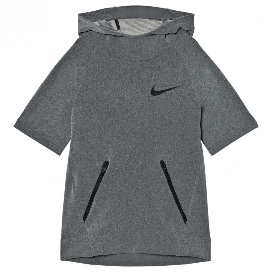 Nike Grey Short Sleeve Hyper Hoodie Huppari