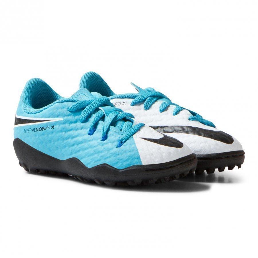 Nike Hypervenom Phelon Iii White Blue Artificial Turf Soccer Boots Jalkapallokengät