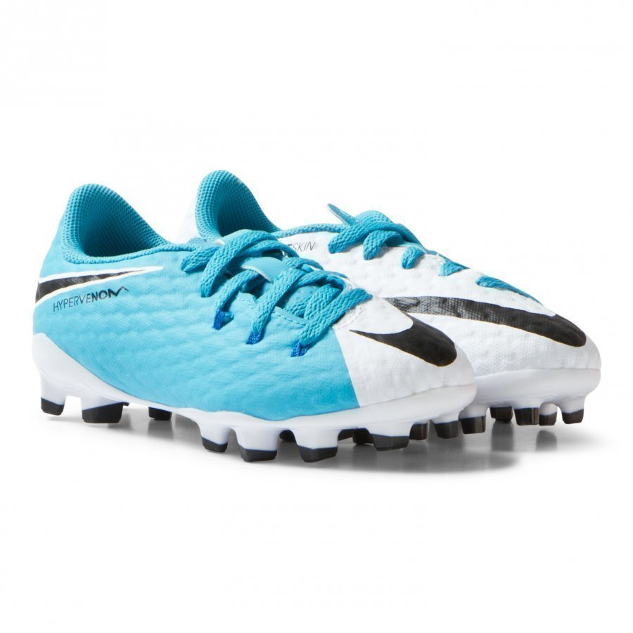 Nike Hypervenom White Blue Phelon Iii Firm Ground Soccer Boots Jalkapallokengät