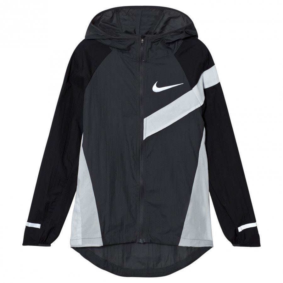 Nike Impossibly Light Jacket In Black And Grey Tuulitakki