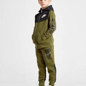 Nike Just Do It Woven Overlay Tracksuit Khaki / Black