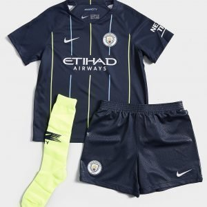 Nike Manchester City Fc 2018/19 Away Kit Laivastonsininen