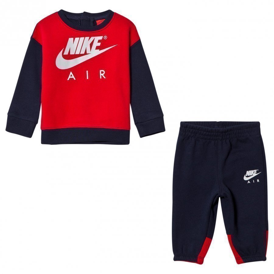 Nike Navy And Red Nike Air Crew Fleece Set Asusetti