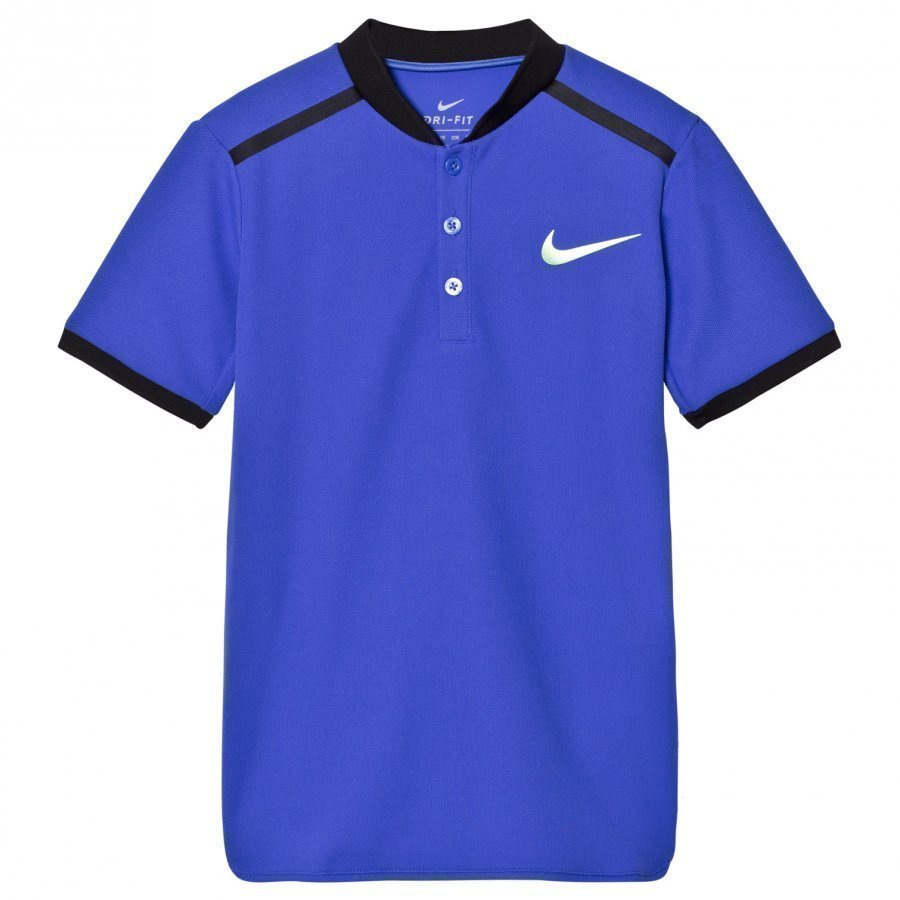 Nike Nikecourt Advantage Tennis Tee Blue Pikeepaita