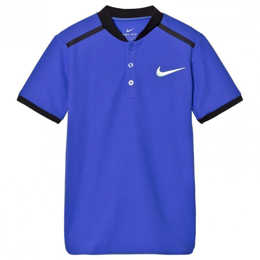 Nike Nikecourt Advantage Tennis Tee Blue Pikeepaita