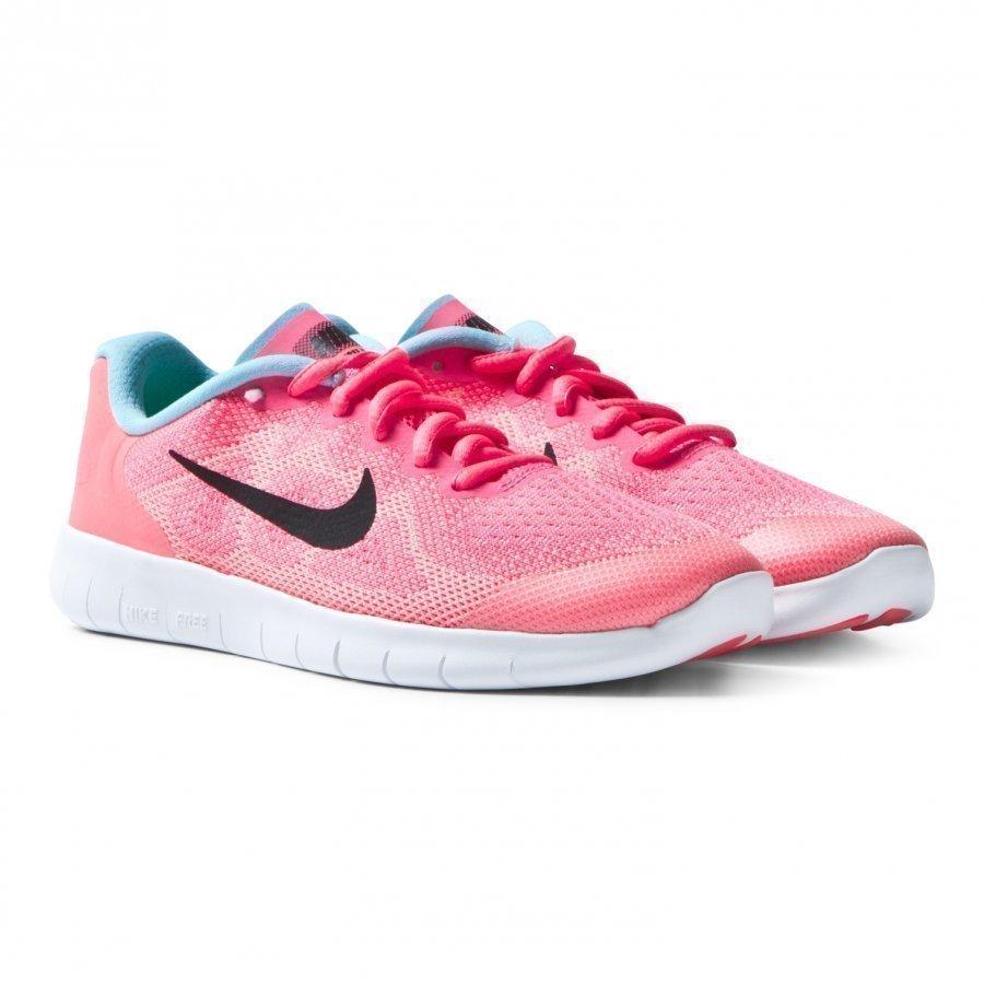 Nike Pink Free Run 2017 Junior Trainers Urheilukengät