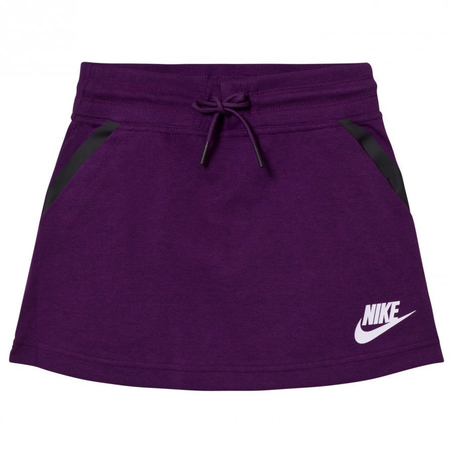 Nike Purple Tech Fleece Skirt Lyhyt Hame
