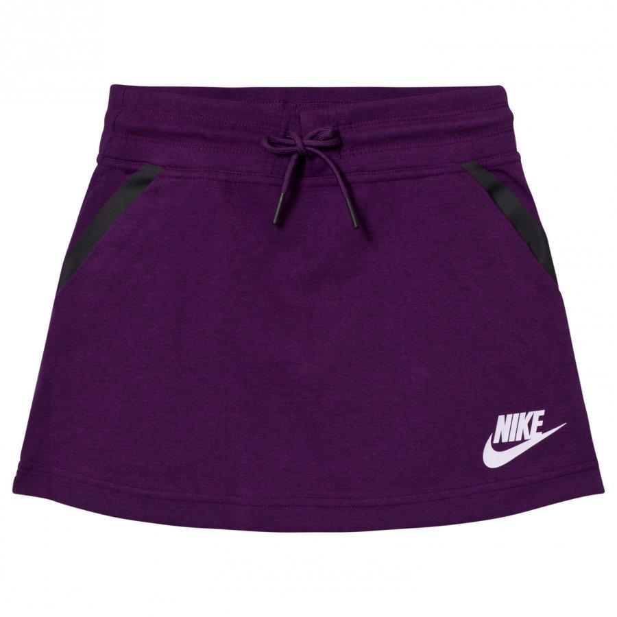 Nike Purple Tech Fleece Skirt Lyhyt Hame