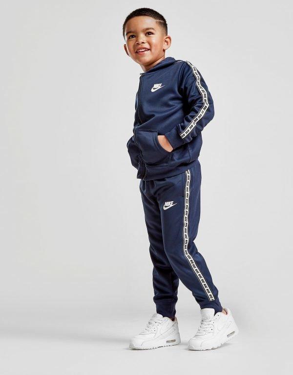 Nike Repeat Tape Poly Full Zip Tracksuit Sininen