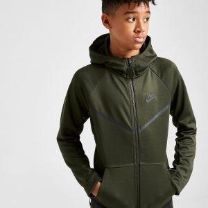 Nike Tech Poly Full Zip Hoodie Vihreä
