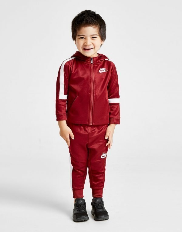 Nike Tribute Poly Tracksuit Infant Punainen