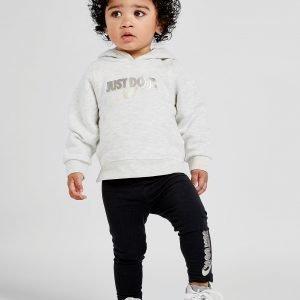 Nike Tyttöjen Just Do It Huppari / Leggingsit Kermanvalkoinen