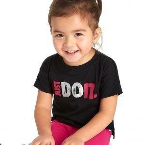 Nike Tyttöjen Just Do It T-Paita Musta