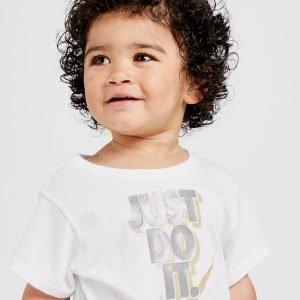 Nike Tyttöjen Just Do It T-Paita Valkoinen