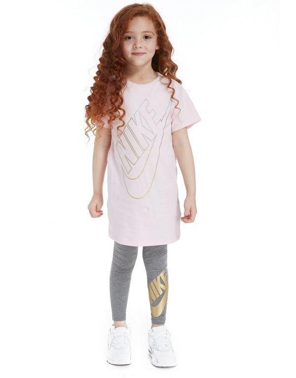 Nike Tyttöjen T-Paita / Leggingsit Setti Vaaleanpunainen