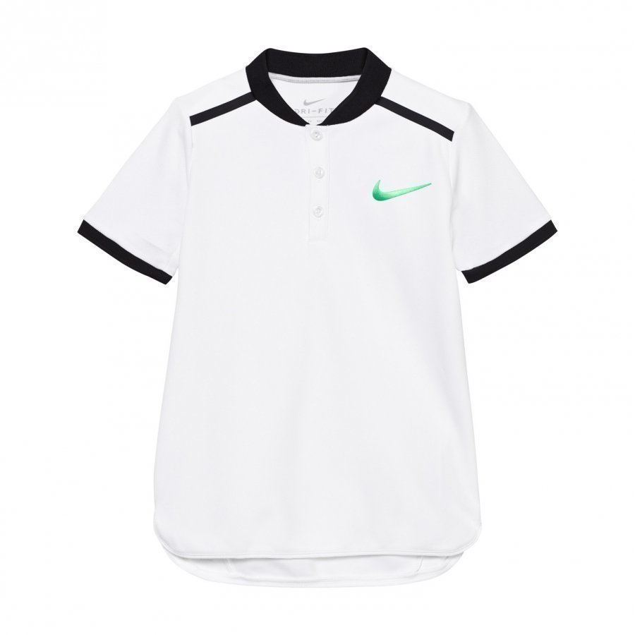 Nike White Advance Tennis Polo Pikeepaita