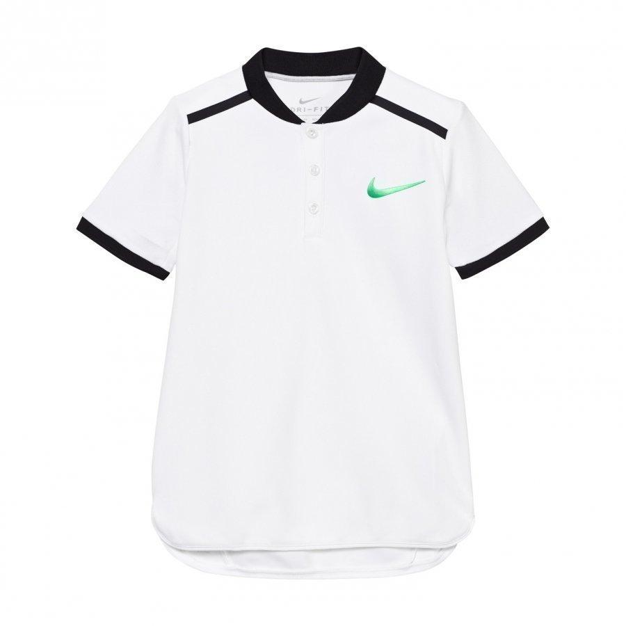 Nike White Advance Tennis Polo Pikeepaita