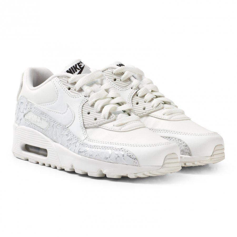 Nike White Nike Air Max 90 Leather Junior Shoe Lenkkarit