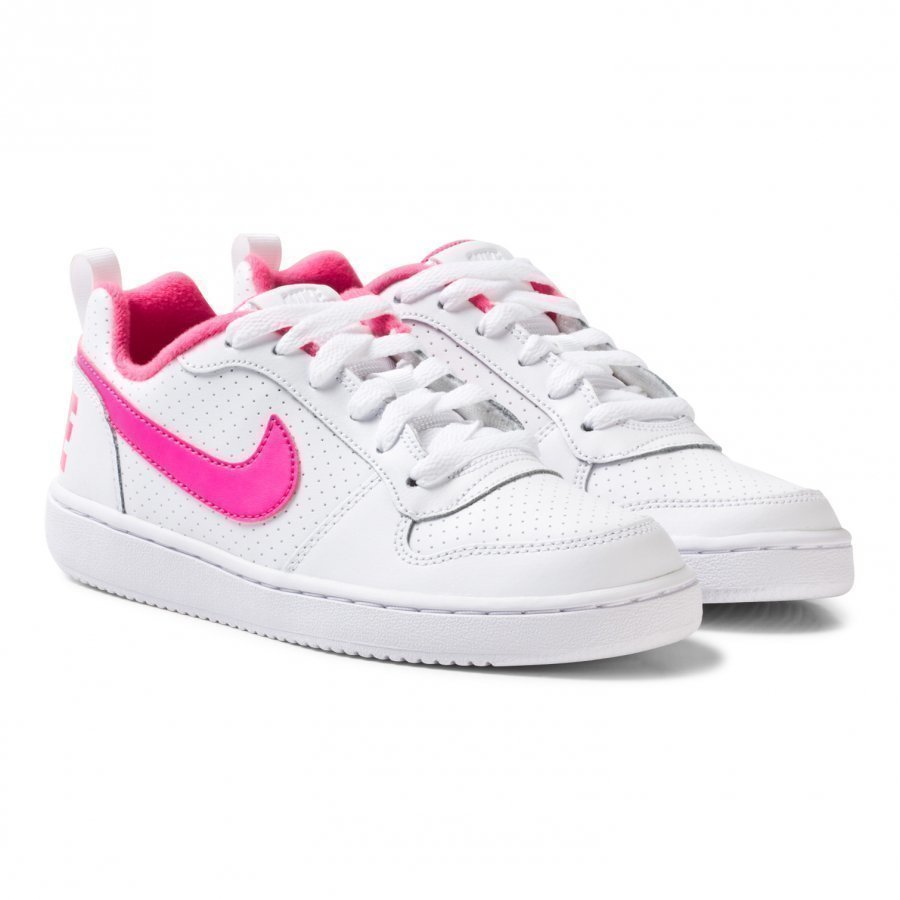 Nike White Nike Court Borough Low Junior Shoe Lenkkarit