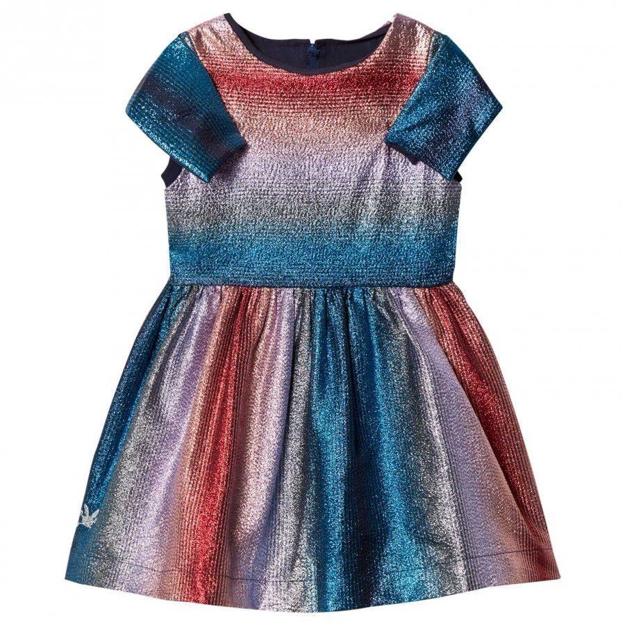 No Added Sugar Pink And Blue Lurex Stripe Dress Mekko