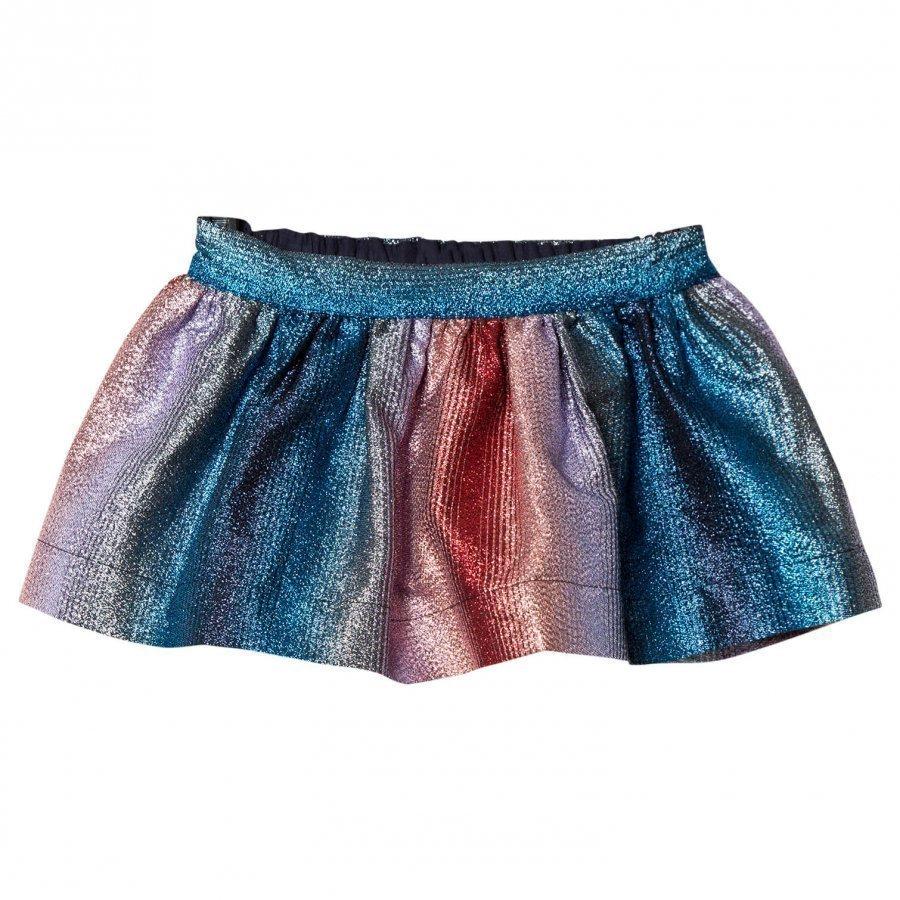 No Added Sugar Pink And Blue Lurex Stripe Skirt Kellohame