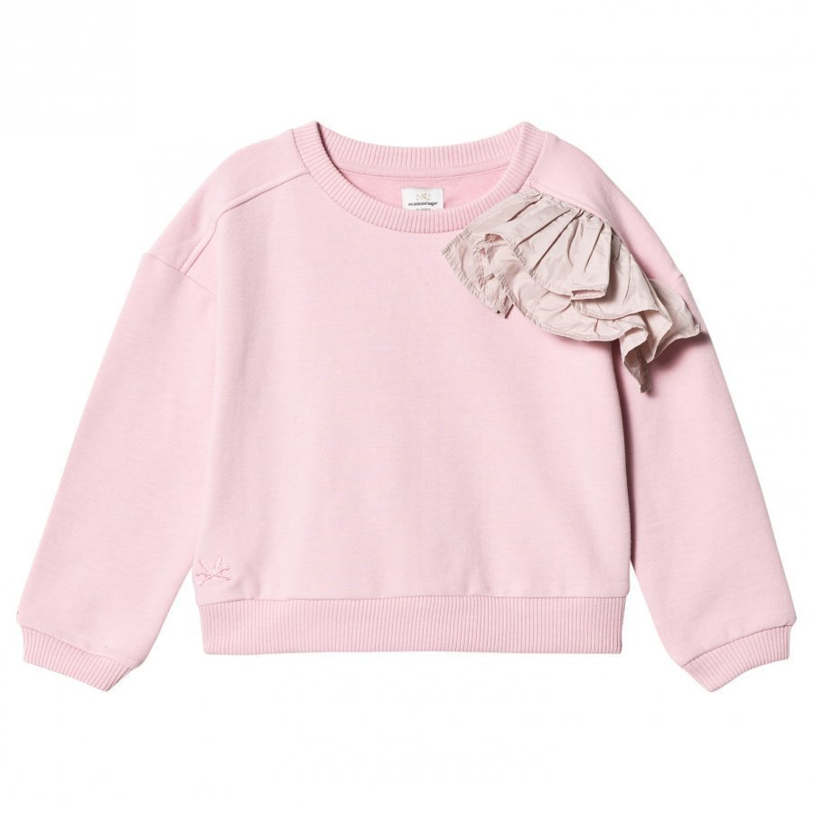 No Added Sugar Pink Marl Sweater With Ruffle Detail Paita