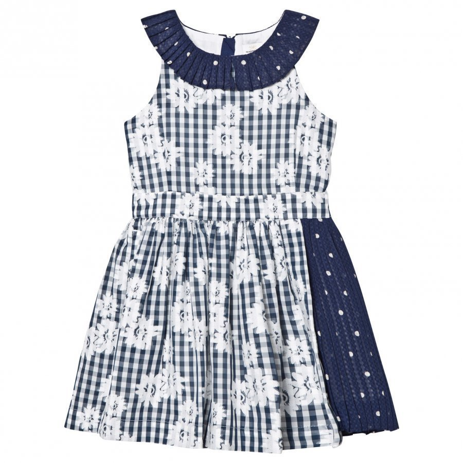 No Added Sugar Salad Days Dress Floral Gingham And Sheer Spot Mekko