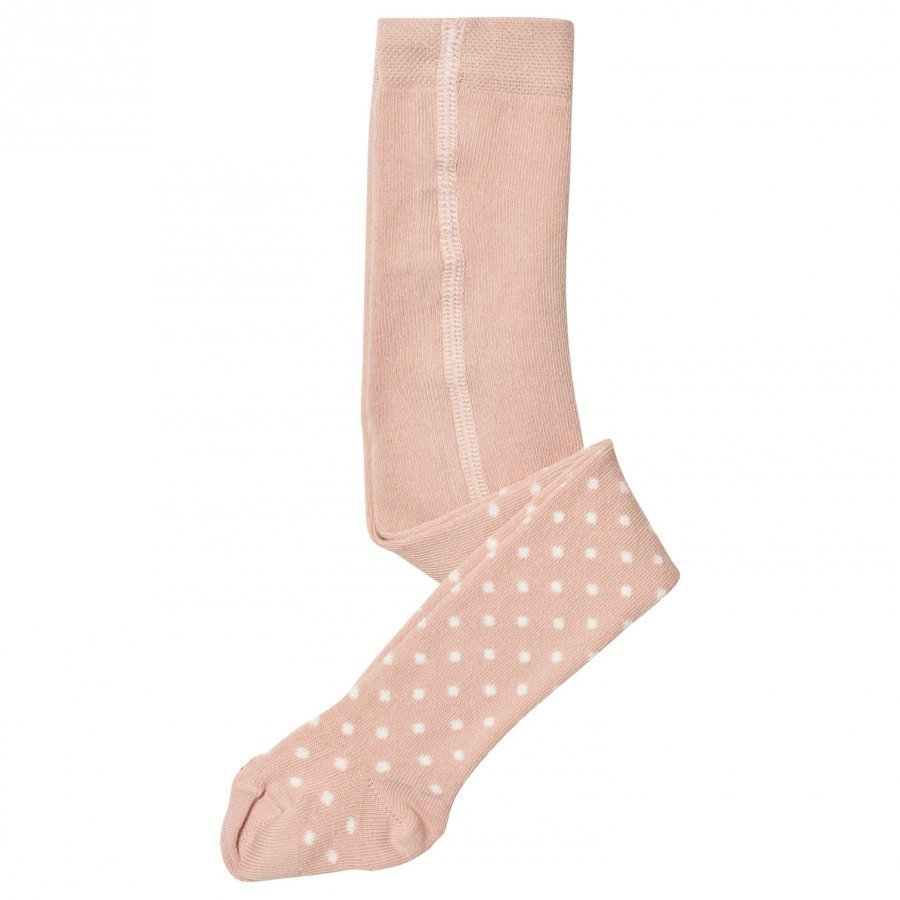 Noa Noa Miniature Baby Basic Dotty Tights Sepia Rose Sukkahousut