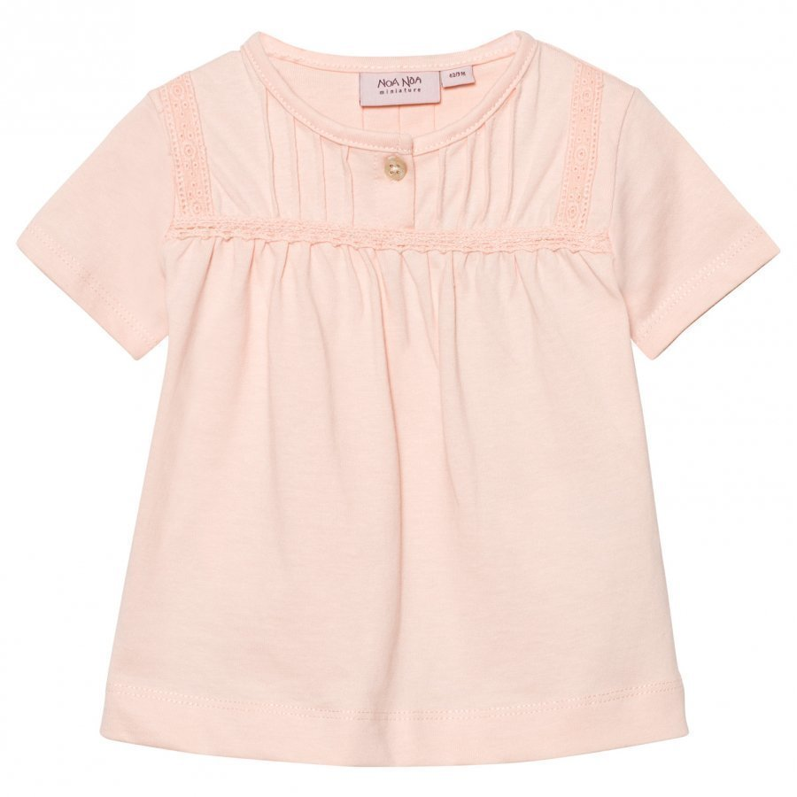 Noa Noa Miniature Baby Basic Top Organic Jersey Peach Blush Pusero