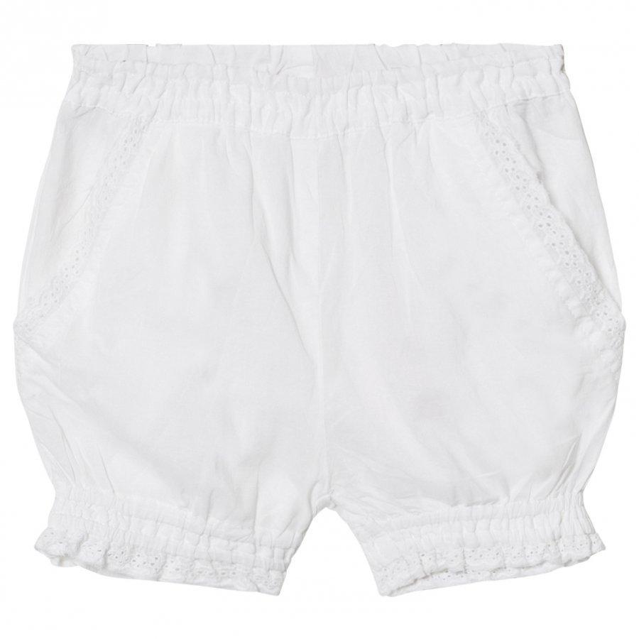 Noa Noa Miniature Baby Delicate Voile Shorts Solid White Capri