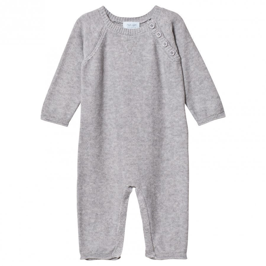 Noa Noa Miniature Basic Cotton One-Piece Grey Melange Body