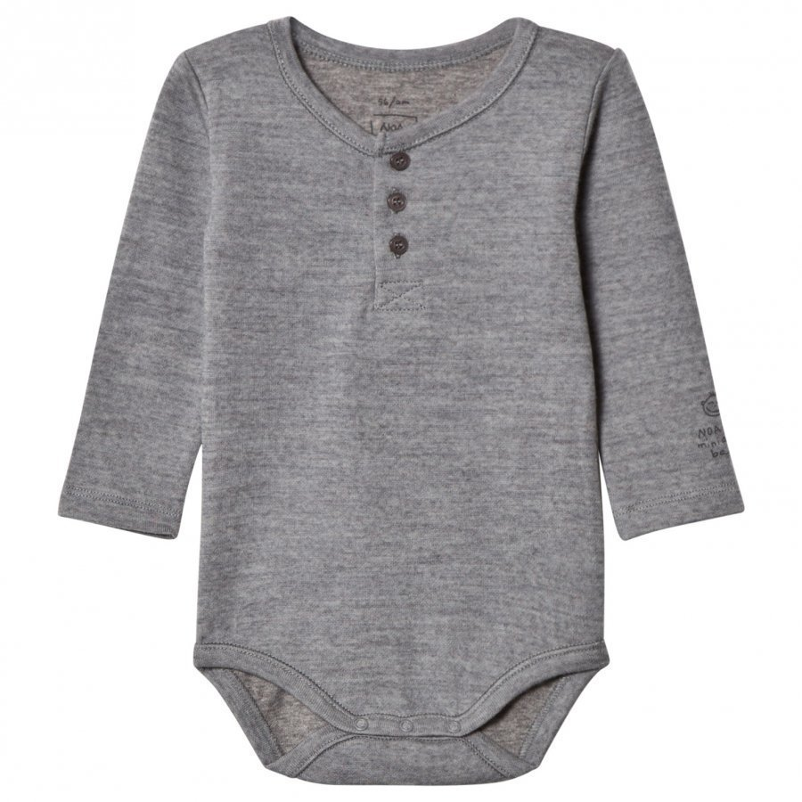 Noa Noa Miniature Basic Wool Baby Body Grey Body