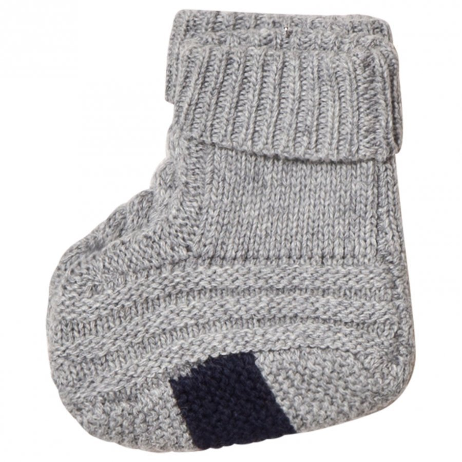 Noa Noa Miniature Basic Wool Knit Booties Grey Vauvan Kengät
