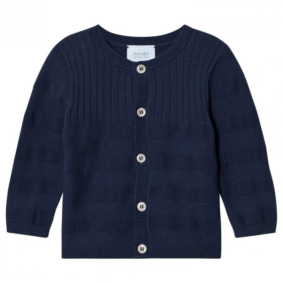 Noa Noa Miniature Boy Nappa Knit Cardigan Blue Neuletakki