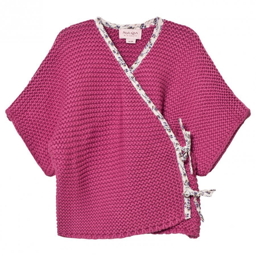 Noa Noa Miniature Cardigan Short Sleeve Red Violet Neuletakki