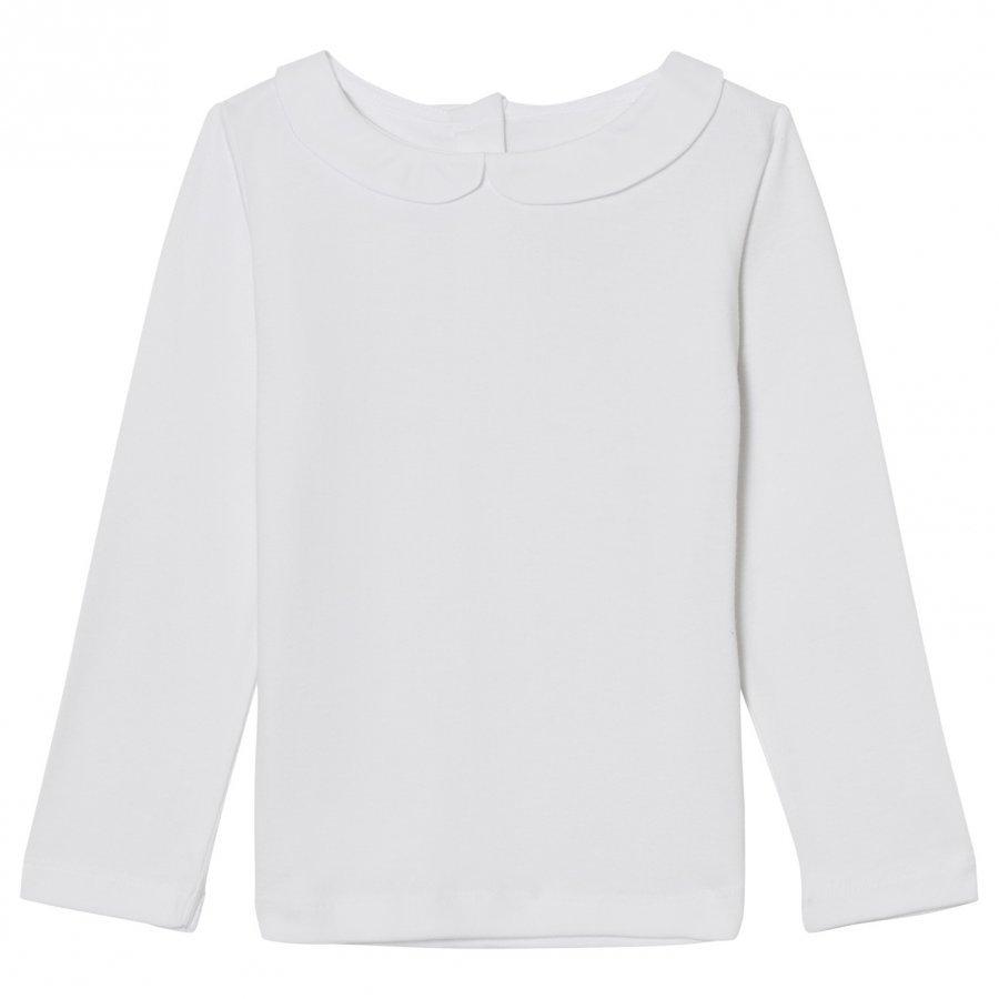 Noa Noa Miniature Collar Tee White Pitkähihainen T-Paita