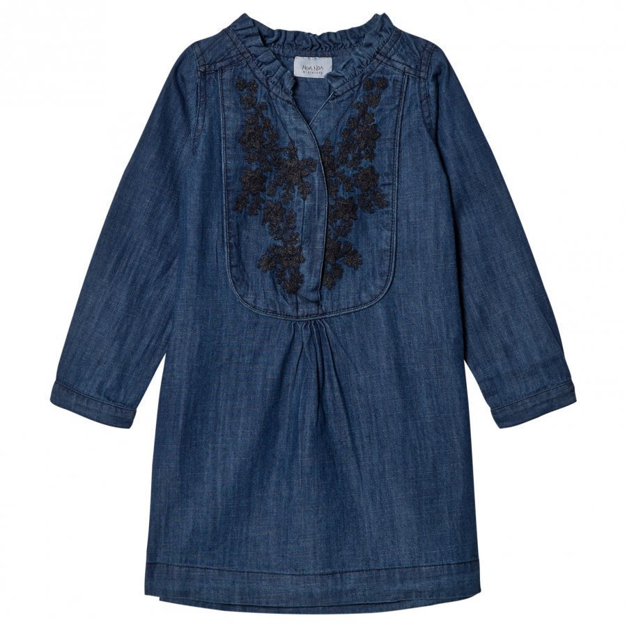Noa Noa Miniature Denim Dress Dark Wash Mekko