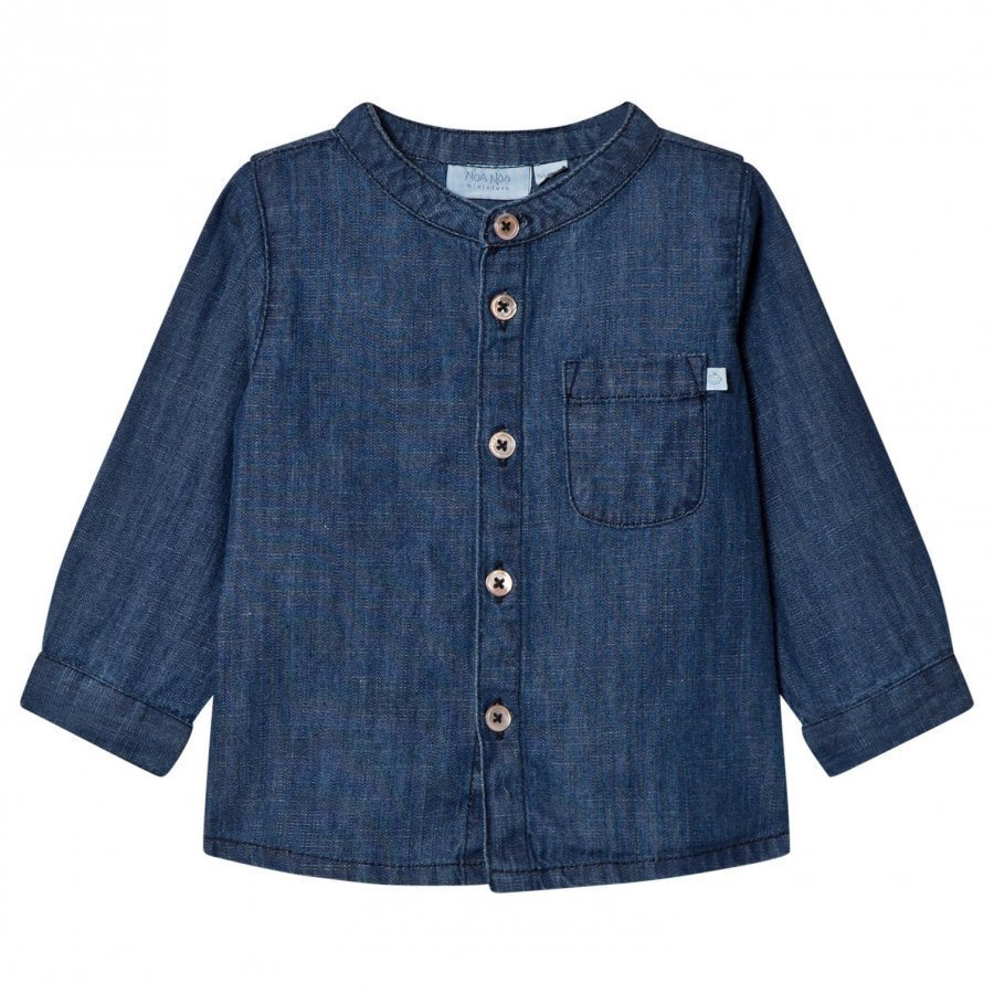 Noa Noa Miniature Denim Top Dark Wash Pusero