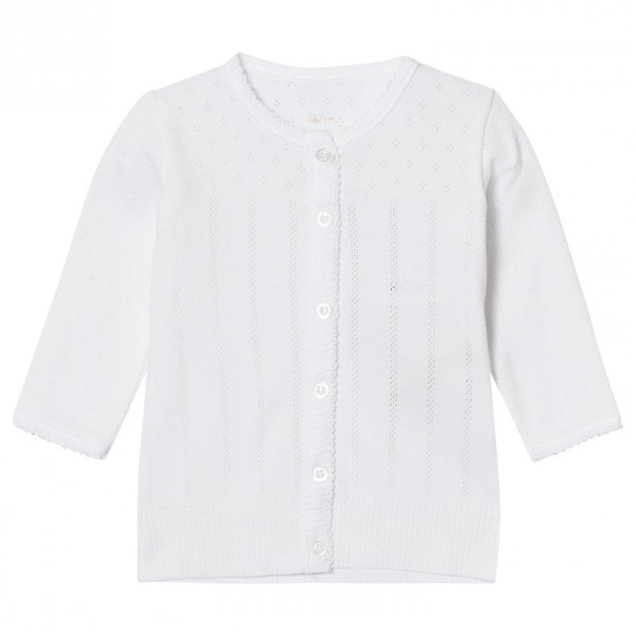 Noa Noa Miniature Doria Baby Basic Cardigan White Neuletakki