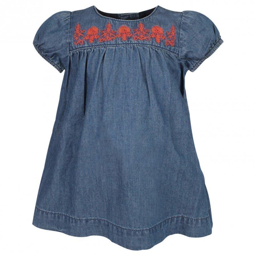 Noa Noa Miniature Dress Short Sleeve Denim Blue Mekko