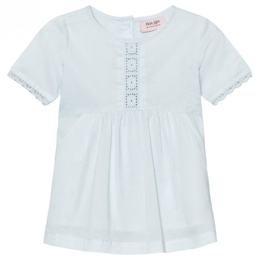 Noa Noa Miniature Dress Voile Solid Baby Blue Mekko