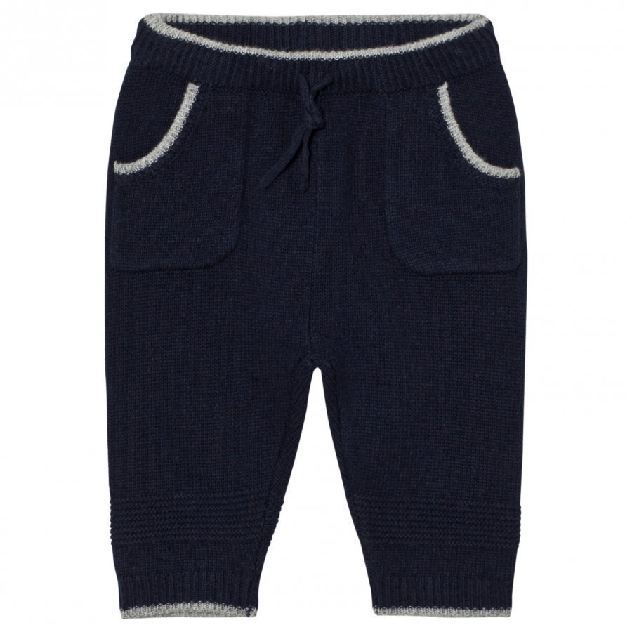 Noa Noa Miniature Knit Basic Pants Blue Housut
