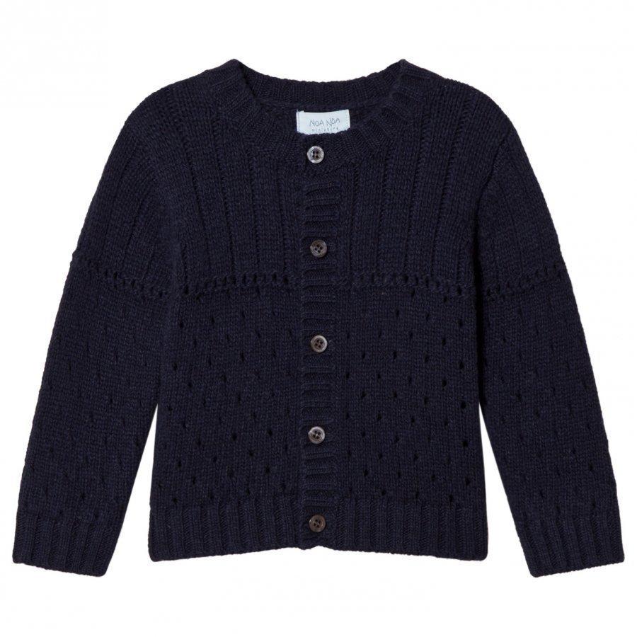 Noa Noa Miniature Knit Cardigan Blue Neuletakki