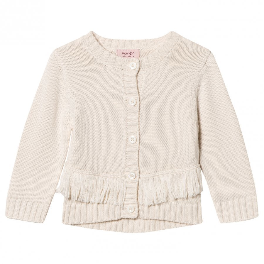 Noa Noa Miniature Lua Knit Cardigan Chalk Neuletakki