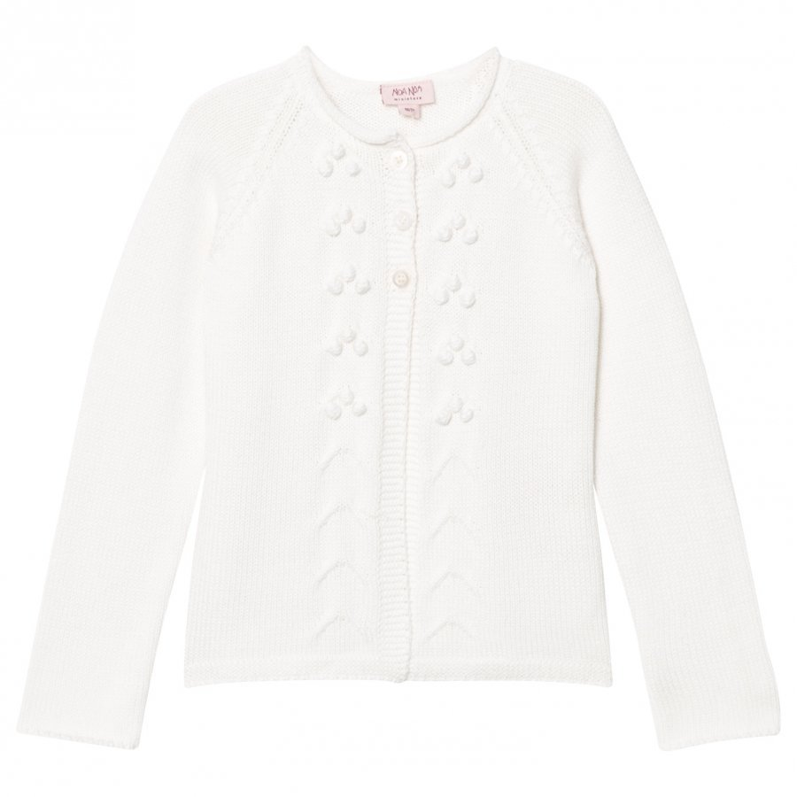 Noa Noa Miniature Mini Basic Organic Knit Chalk Neuletakki