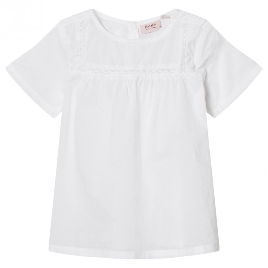 Noa Noa Miniature Mini Delicate Voile Top Solid White Pusero