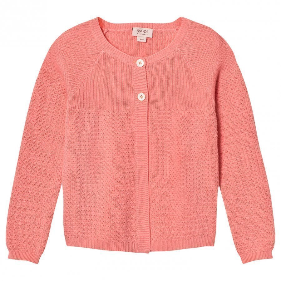 Noa Noa Miniature Mini Organic Knit Cardigan Strawberry Ice Neuletakki