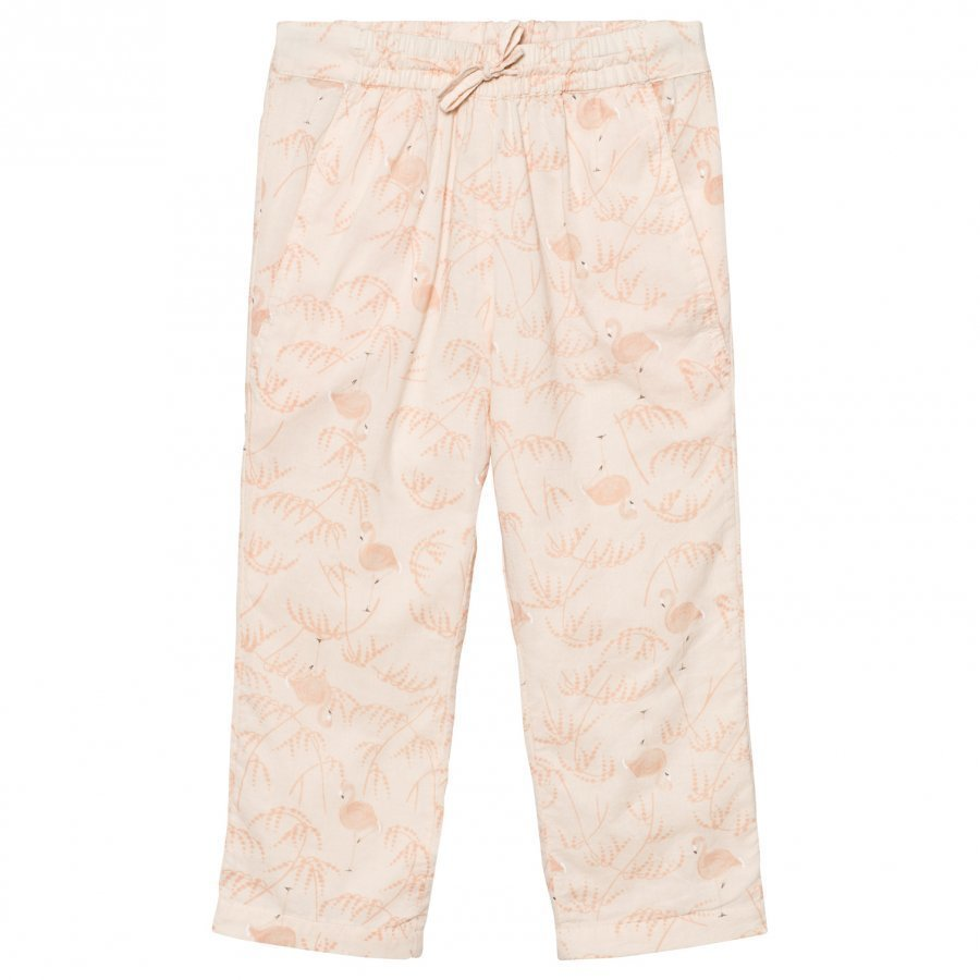 Noa Noa Miniature Mini Voile Pants Printed Pink Tint Housut